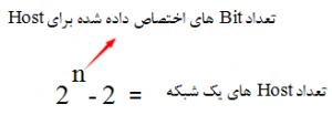 محاسبه تعداد Host