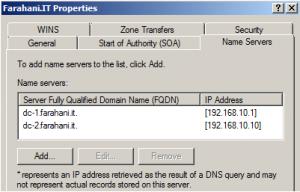Name Server Tab
