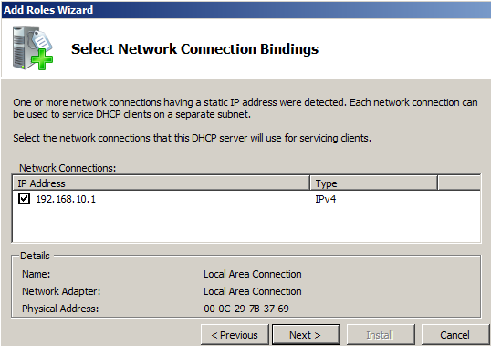 Network Connection Bindings