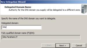 Delegated Domain Name