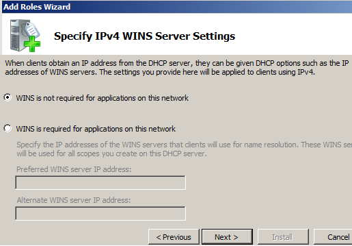 راه اندازی DHCP