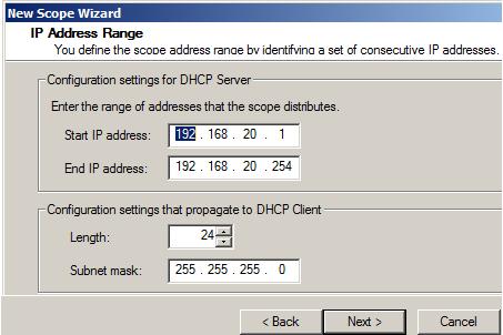 رنج IP scope