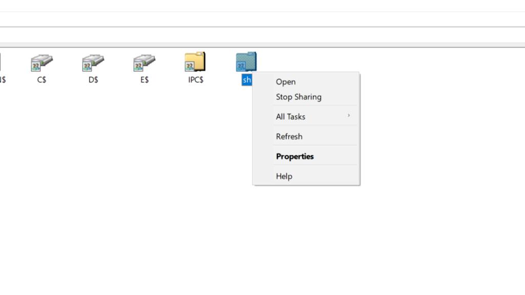 ُShare folder Properties