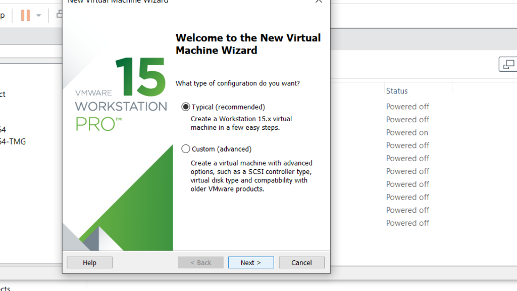Virtual Machine Wizard