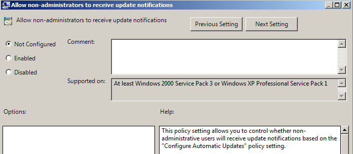 Allow Automatic Update Immediate Installation policy
