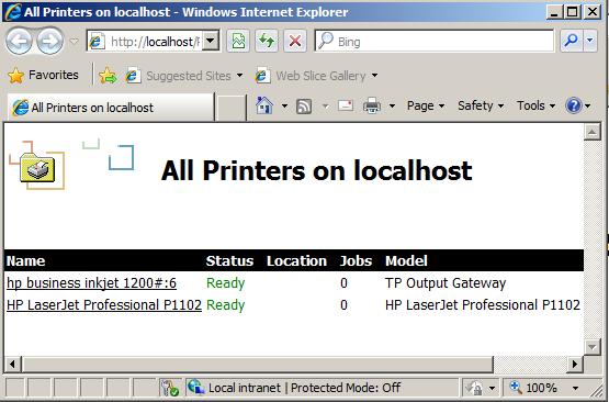 آموزش مدیریت Internet Printing